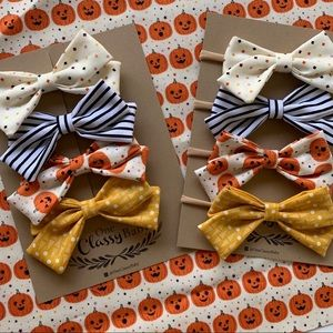 Halloween jack-o-lantern bow packs